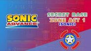 Secret Base Zone Act 1 (Sonic) - Sonic Advance