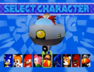 Sonic R select Eggman
