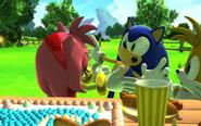 Amy na imprezie Sonica