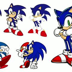 Recopilación de tempranos bocetos de personaje. Tomados del live-stream del evento Sonic 25th Anniversary que se llevó a cabo en Junio 2016 en Joypolis.
