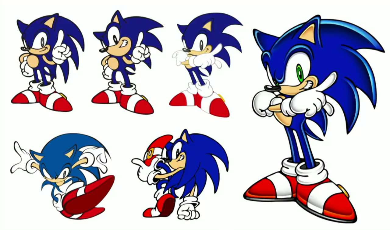 image sonic adventure character sketches png sonic news network