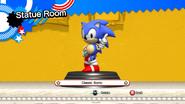 Classic Sonic statue