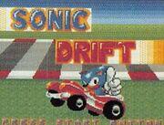 Prototype Sonic Drift Title Screen