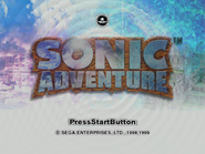 Sonic Adventure title screen