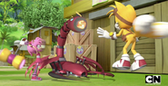 Amy Tails and Scorpion bot