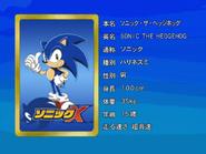 Sonic X karta 1