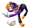 Brawl Sticker Waluigi (Mario Superstar Baseball)