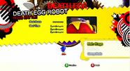 Death Egg Robot en el menu de Generations