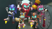 TS Robots fighting stance