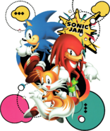 Sonic Jam - Sonic, Tails and Knuckles promotional