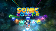 Sonic Colors title screen