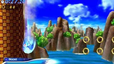 Sonic Generations 3DS - Modern Green Hill