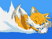 Tails Swimming Style