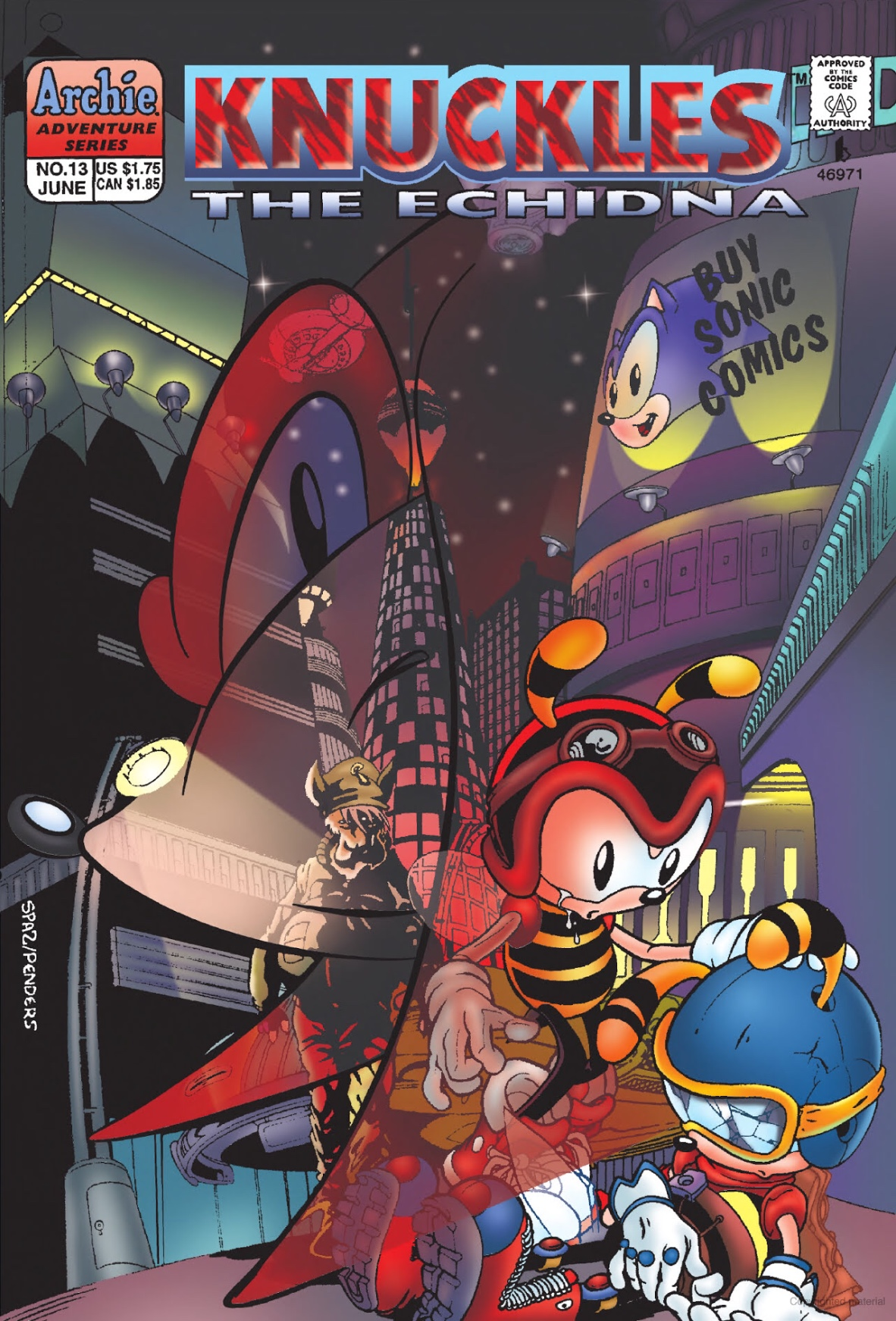 Archie Knuckles The Echidna Issue 13 Sonic News Network Fandom