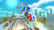 Sonic free riders tricks