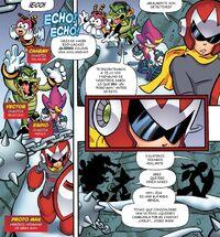 Chaotix y Proto Man
