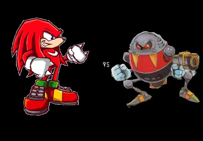 Knuckles vs EggRobo