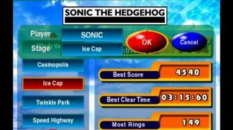 Sonic Adventure DX (GC) Sonic - Ice Cap Missions Level B and A