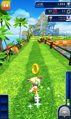 File:Sonic Dash Cream On Track.png