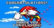 Sonic Advance ending Knuckles