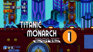 Titanic Monarch Zone Sonic Mania Card