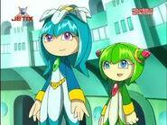 Cosmo y su hermana Galaxina