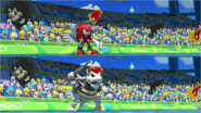 Mario & Sonic at the Rio 2016 Olympic Games - Kunckles VS Dry Bowser Javelin Throw
