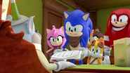 Mayor and Team Sonic with papers