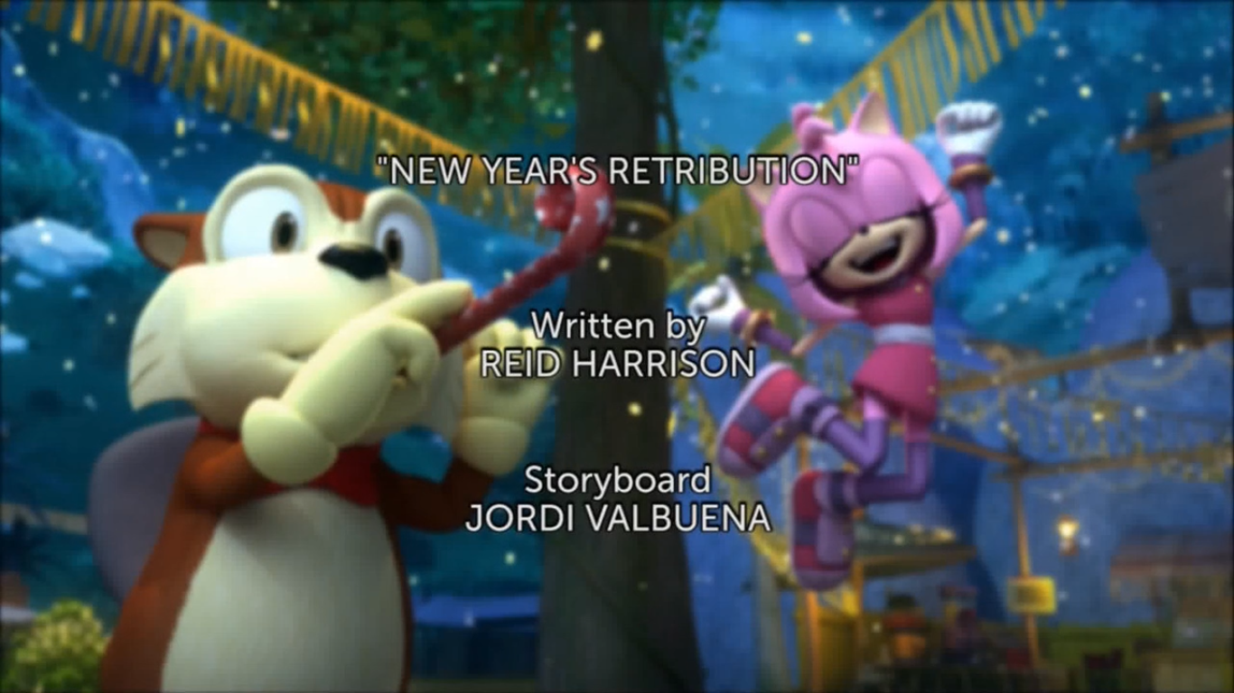 New Years retribution title card
