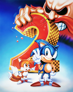 Sonic 2 redrawn box artwork