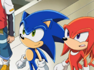 Sonic X Station Break In Knuckles Sonic
