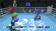 Mario & Sonic at the Rio 2016 Olympic Games - Luigi VS Sonic Boxing