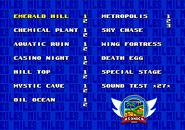Sonic 2 Level Select