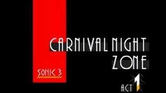 Sonic 3 Music Carnival Night Zone Act 1