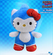 Toynami SxS Sonic x Hello Kitty 6 inch plush