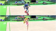 Mario & Sonic at the Rio 2016 Olympic Games - Gymnastics Metal Sonic VS Princess Peach
