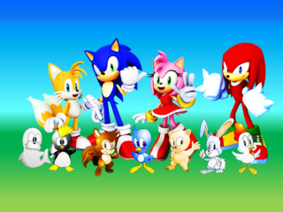 Sonic tails amy knuckles and flickies animals by 9029561-d6prc0r