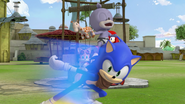 Chumley riding Sonic