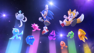 Sonic, Tails and Wisps (Sonic Colors Opening Wii)