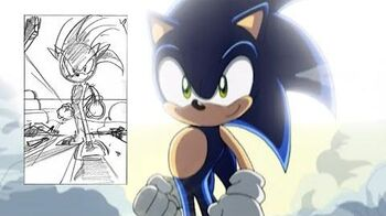 Happy Birthday Sonic X! Exclusive Sonic sketches and storyboard comparison