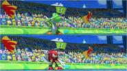 Mario & Sonic at the Rio 2016 Olympic Games - Yoshi VS Kunckles Javelin Throw