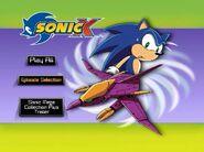 Sonic X Volume 7 AUS main menu