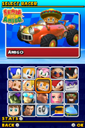 Sonic and Sega All Stars Racing DS character select 09