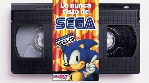 "VHS ""Lo Nunca Visto De SEGA Presentando MEGA-CD"""