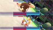 Mario & Sonic at the Rio 2016 Olympic Games - Donkey Kong VS Tails Gymnastics