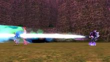 Mephiles kills Sonic