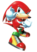 Knuckles in Sonic Blast