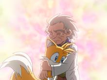 Tails i Chuck goodbye