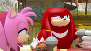 Amy Knux at meh burger