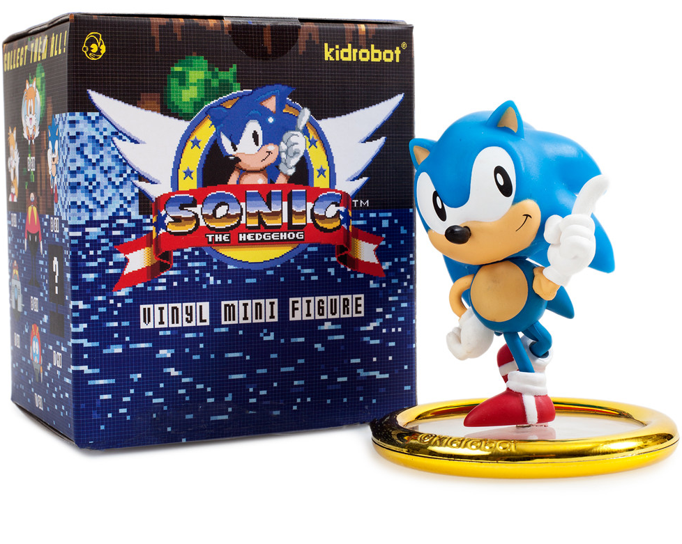 Kidrobot Sonic The Hedgehog Vinyl Key Chain Mini-Figure Eggmobile